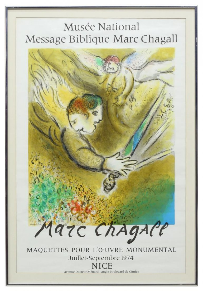 (2) FRAMED MARC CHAGALL ART EXHIBITION POSTERS - 2
