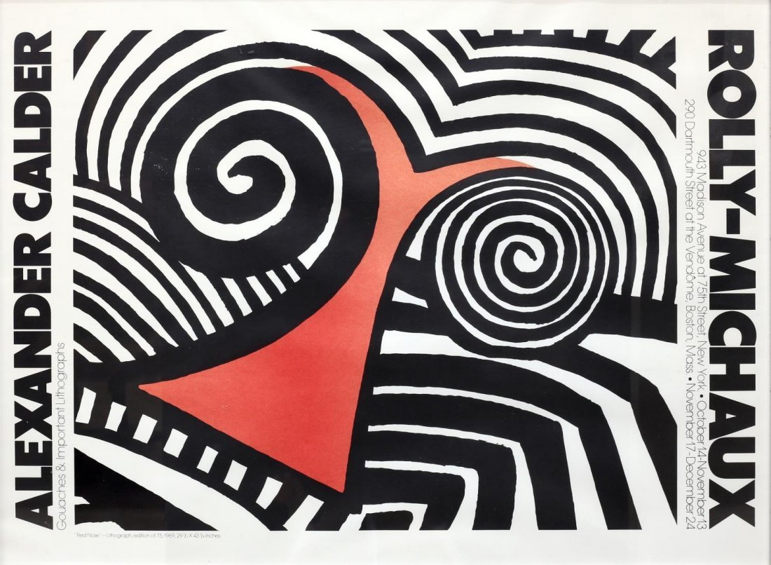 ALEXANDER CALDER POSTER FOR ROLLY-MICHAUX GALLERY