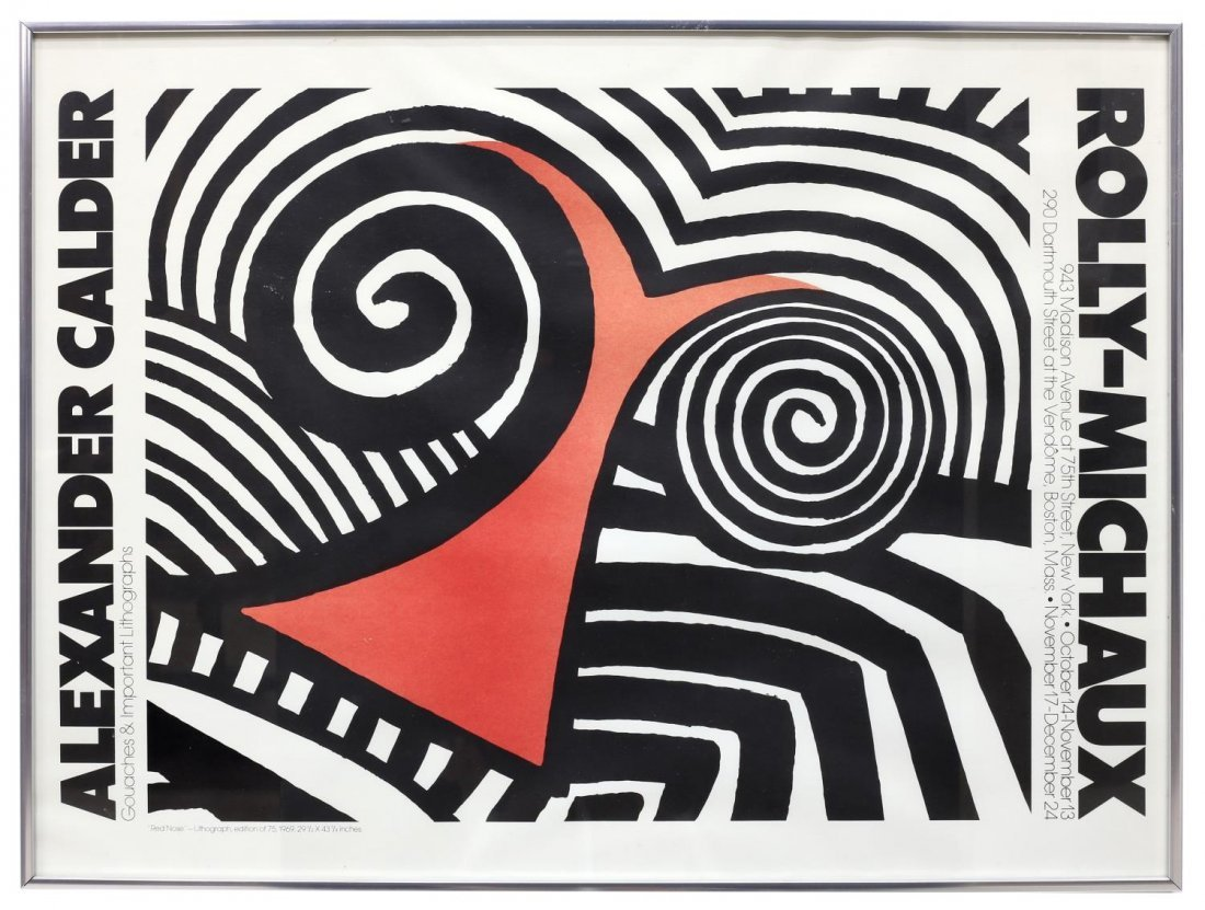 ALEXANDER CALDER POSTER FOR ROLLY-MICHAUX GALLERY - 2
