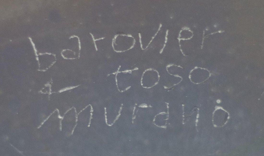 BAROVIER & TOSO MURANO ITALY ART GLASS CENTER BOWL - 2