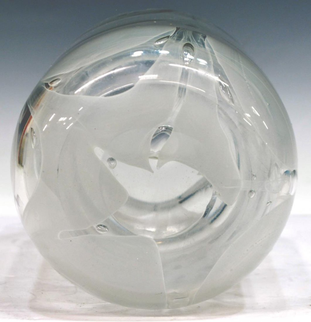 BAROVIER & TOSO ITALIAN MURANO ART GLASS VASE - 4