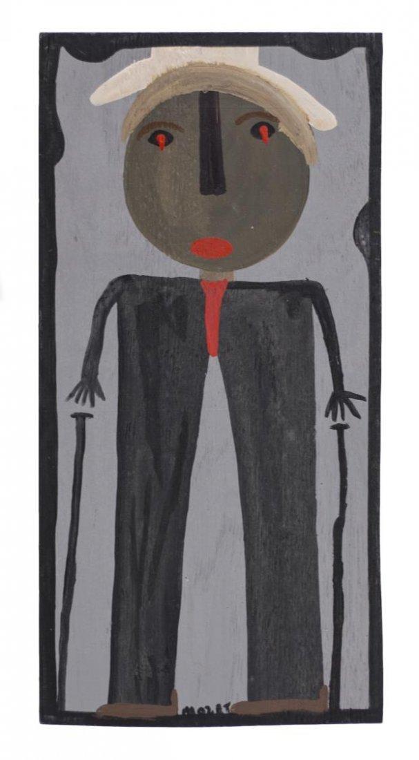 MOSE TOLLIVER (1919-2006) OUTSIDER ART PORTRAIT