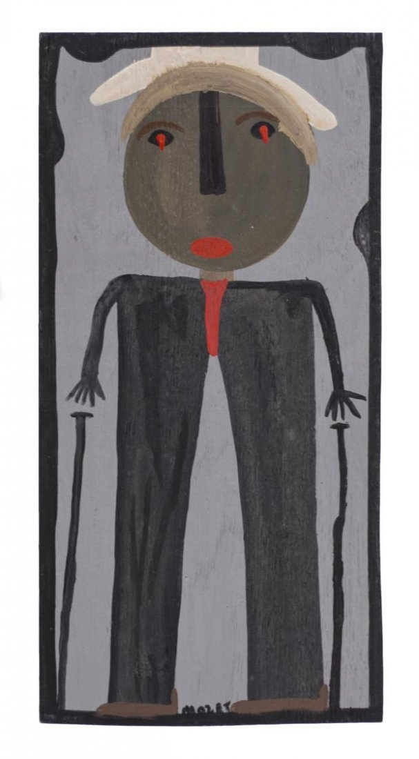 MOSE TOLLIVER (1919-2006) OUTSIDER ART PORTRAIT