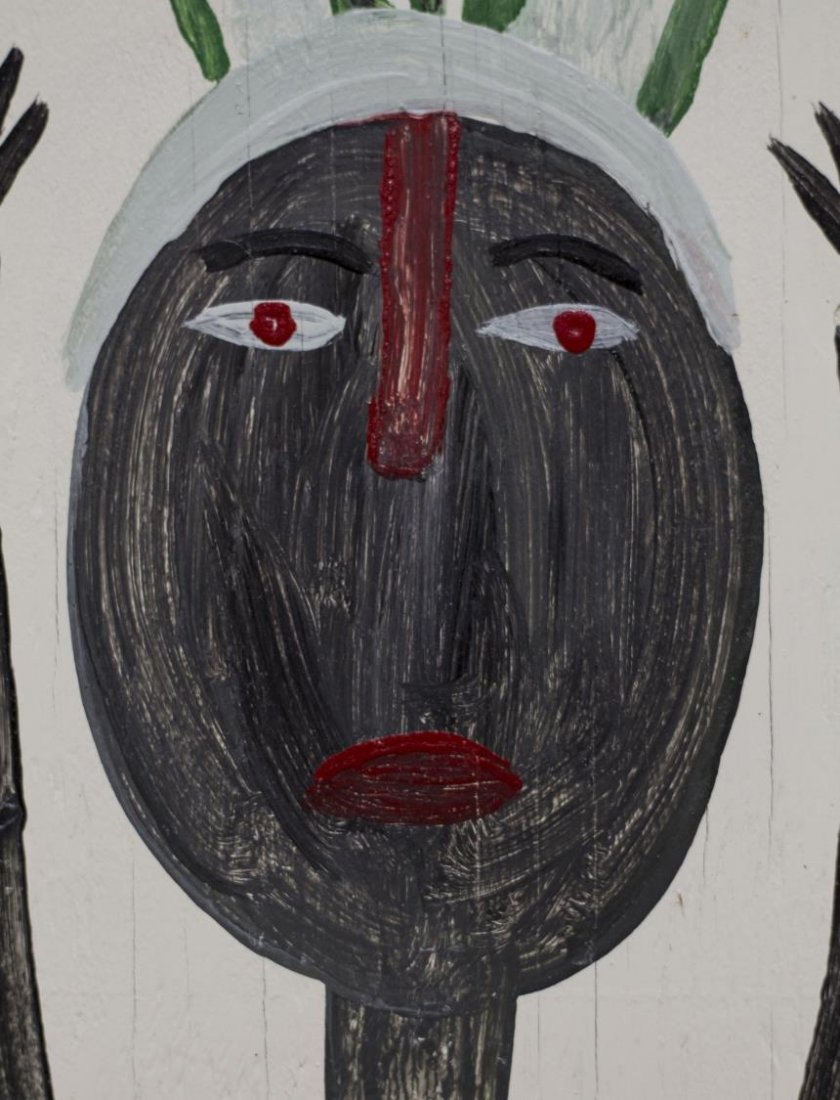 MOSE TOLLIVER (1919-2006) OUTSIDER ART PORTRAIT - 3