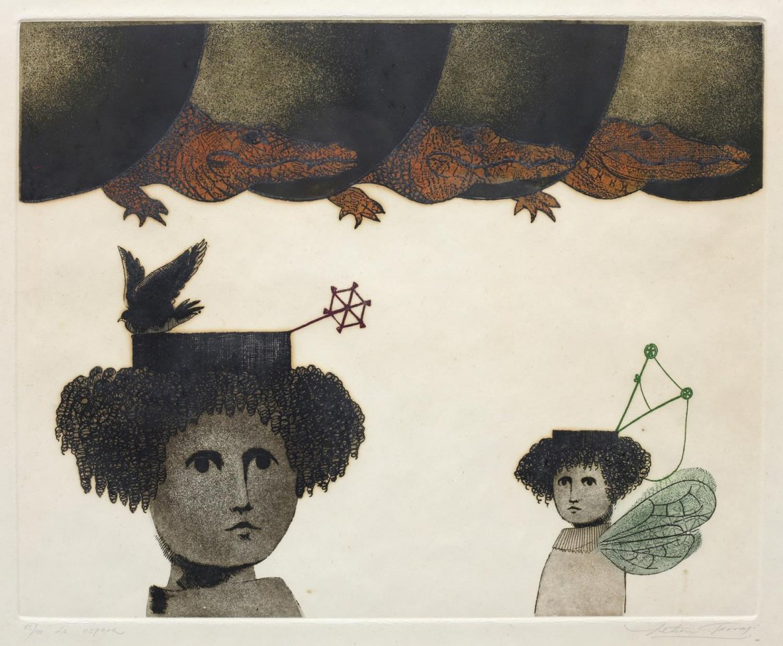 LETICIA TARRAGO (MEXICAN B. 1940) SURREAL ETCHING