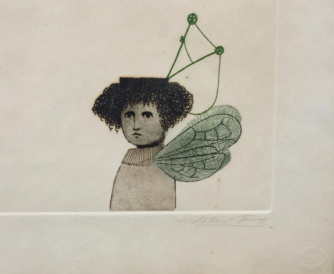 LETICIA TARRAGO (MEXICAN B. 1940) SURREAL ETCHING - 4