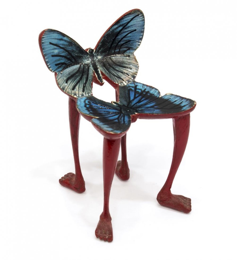 PEDRO FRIEDEBERG MINIATURE CARVED BUTTERFLY CHAIR