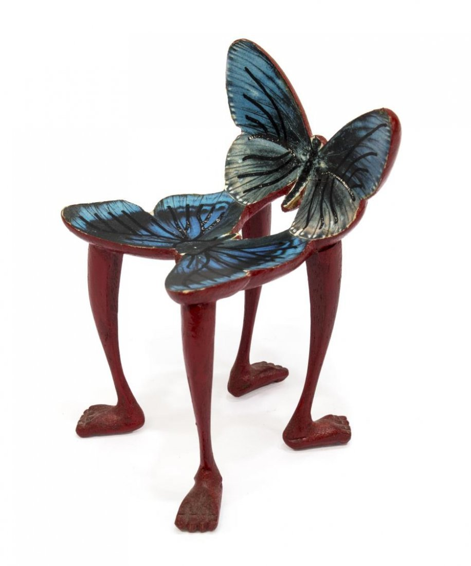 PEDRO FRIEDEBERG MINIATURE CARVED BUTTERFLY CHAIR - 3