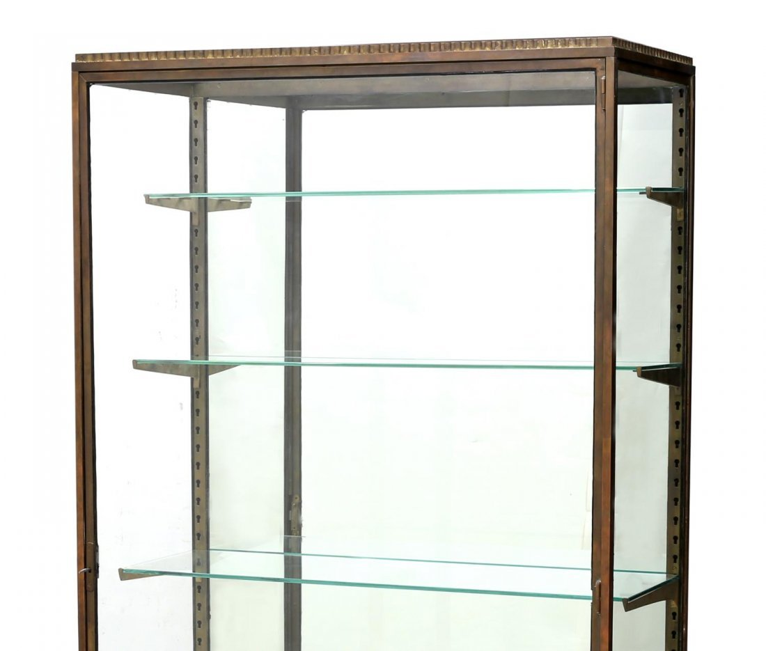 FRENCH REGENCY STYLE BRASS & GLASS DISPLAY CABINET - 2