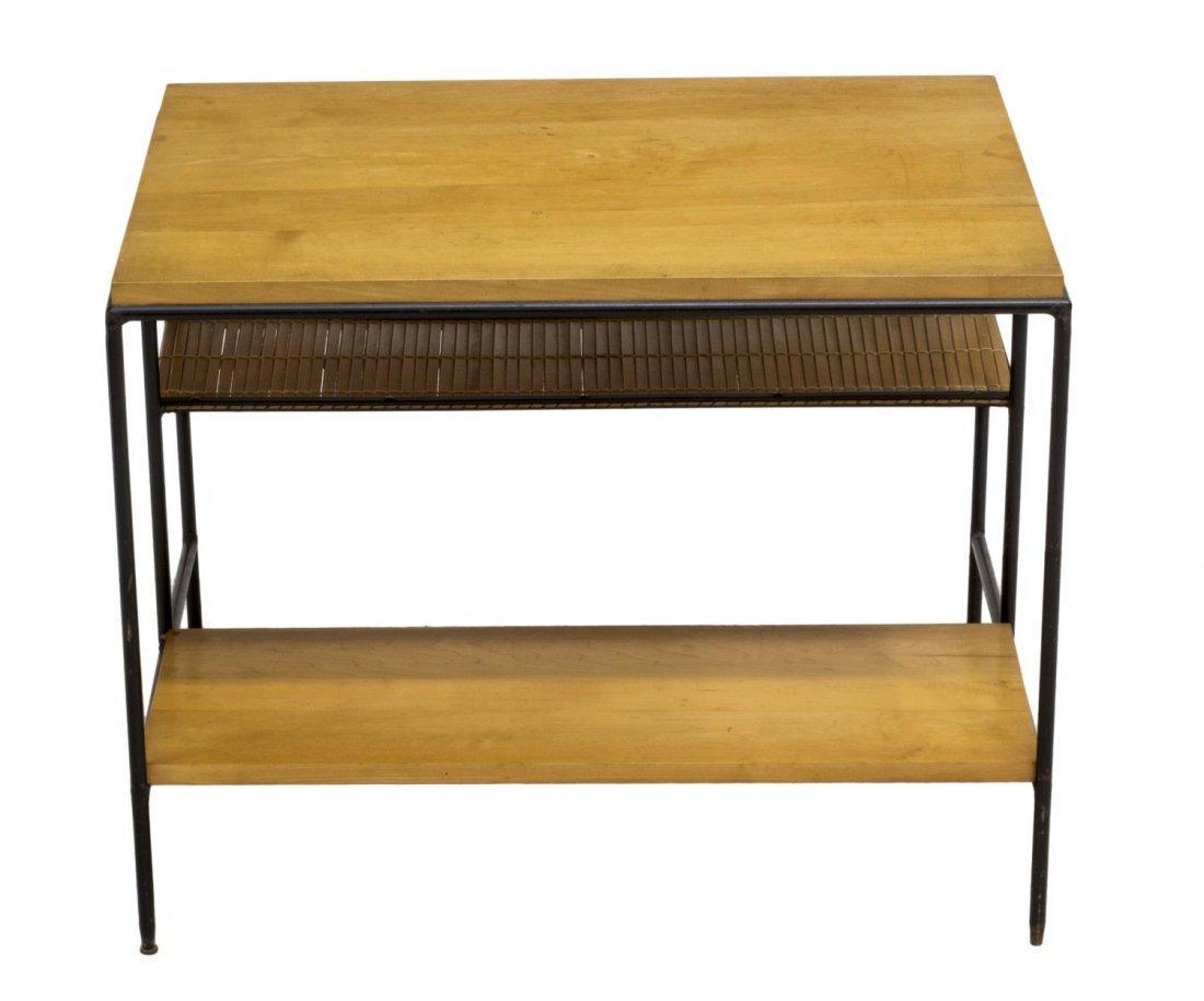 PAUL MCCOBB WOODEN & IRON SIDE TABLE, C. 1960 - 2