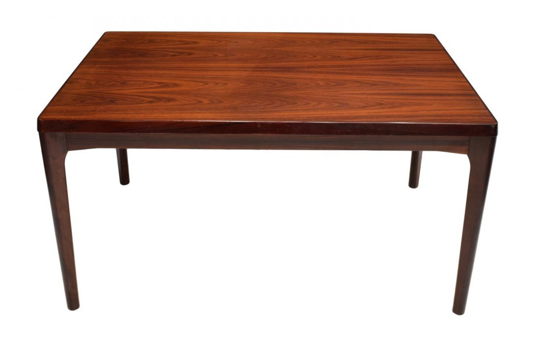 DANISH MID-CENTURY MODERN ROSEWOOD DINING TABLE - 2