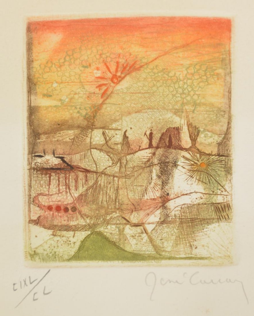 RENE CARCAN (BELGIAN 1925-1993) COLOR ETCHING - 6