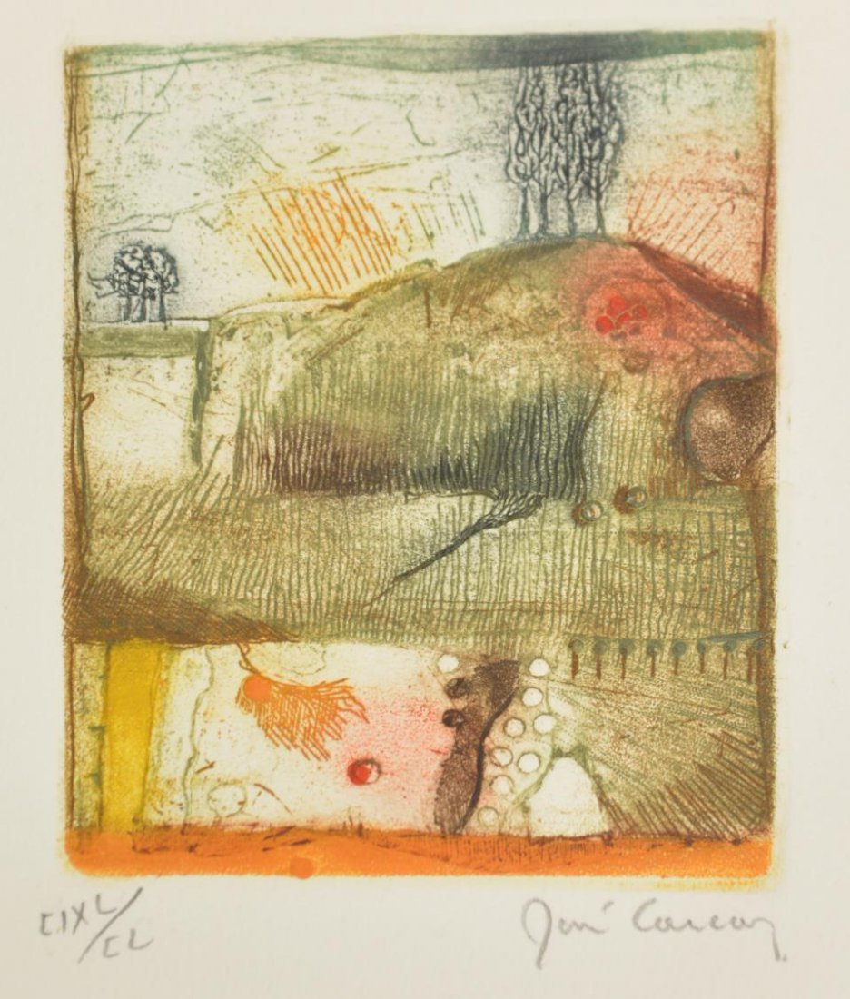 RENE CARCAN (BELGIAN 1925-1993) COLOR ETCHING - 7