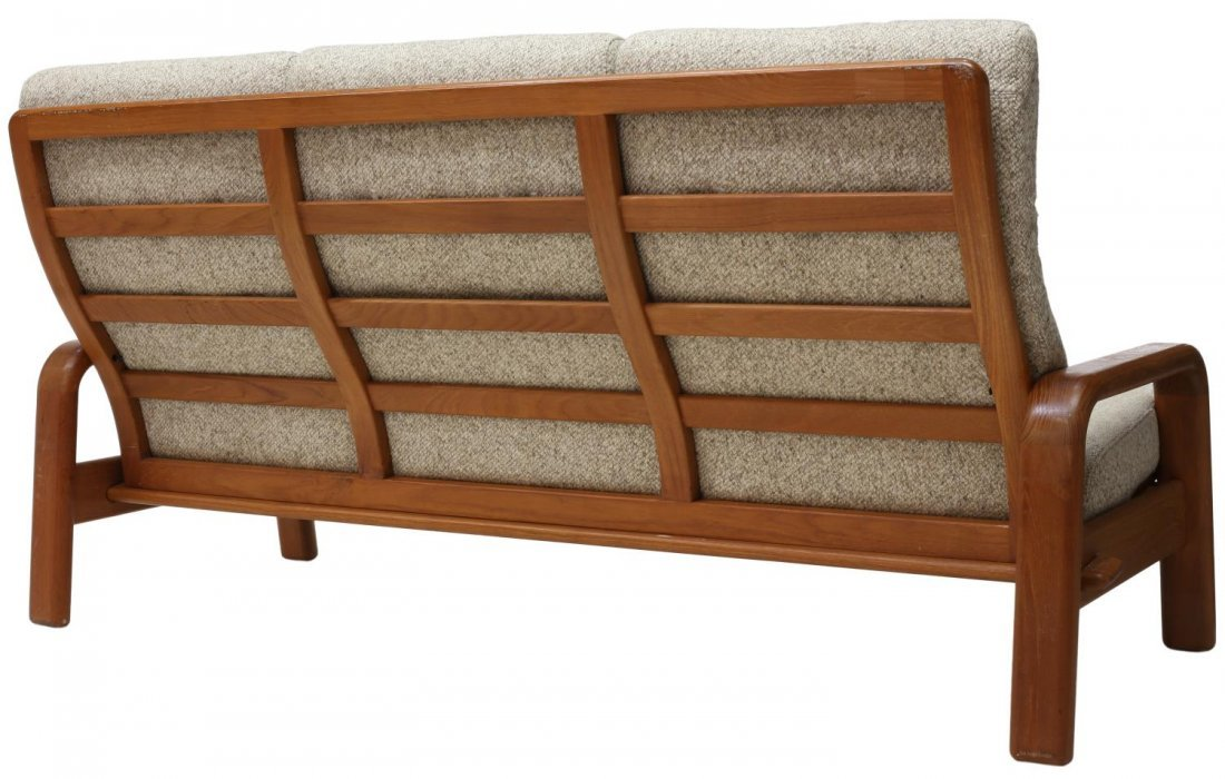 DANISH MID-CENTURY MODERN OPEN ARM 3-SEAT SOFA - 3
