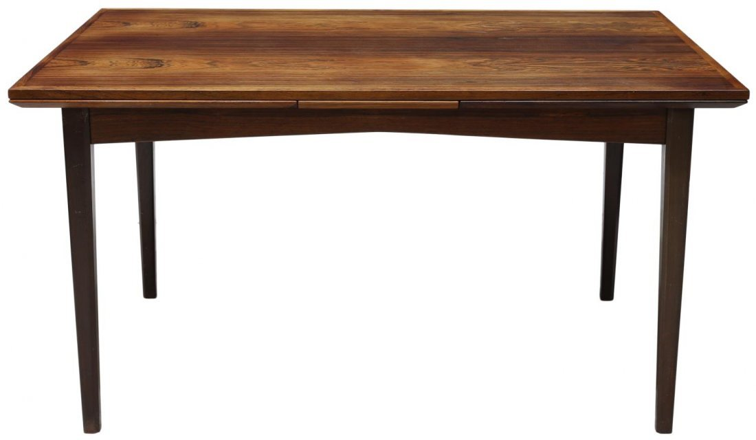 DANISH MID-CENTURY MODERN ROSEWOOD DINING TABLE - 3