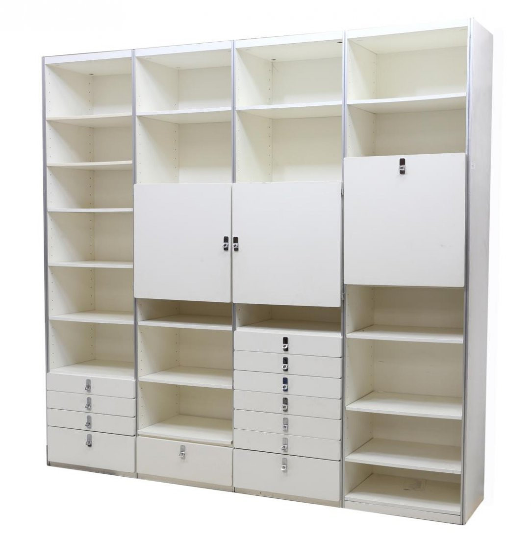 SWEDISH MODULAR WHITE LACQUERED BOOKCASE UNIT
