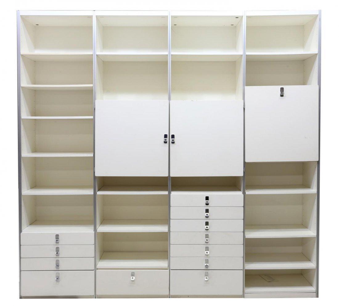SWEDISH MODULAR WHITE LACQUERED BOOKCASE UNIT - 2