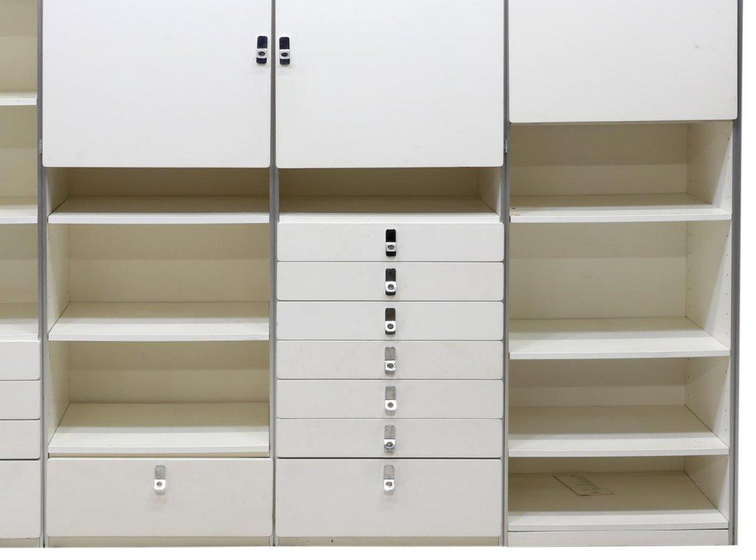 SWEDISH MODULAR WHITE LACQUERED BOOKCASE UNIT - 4