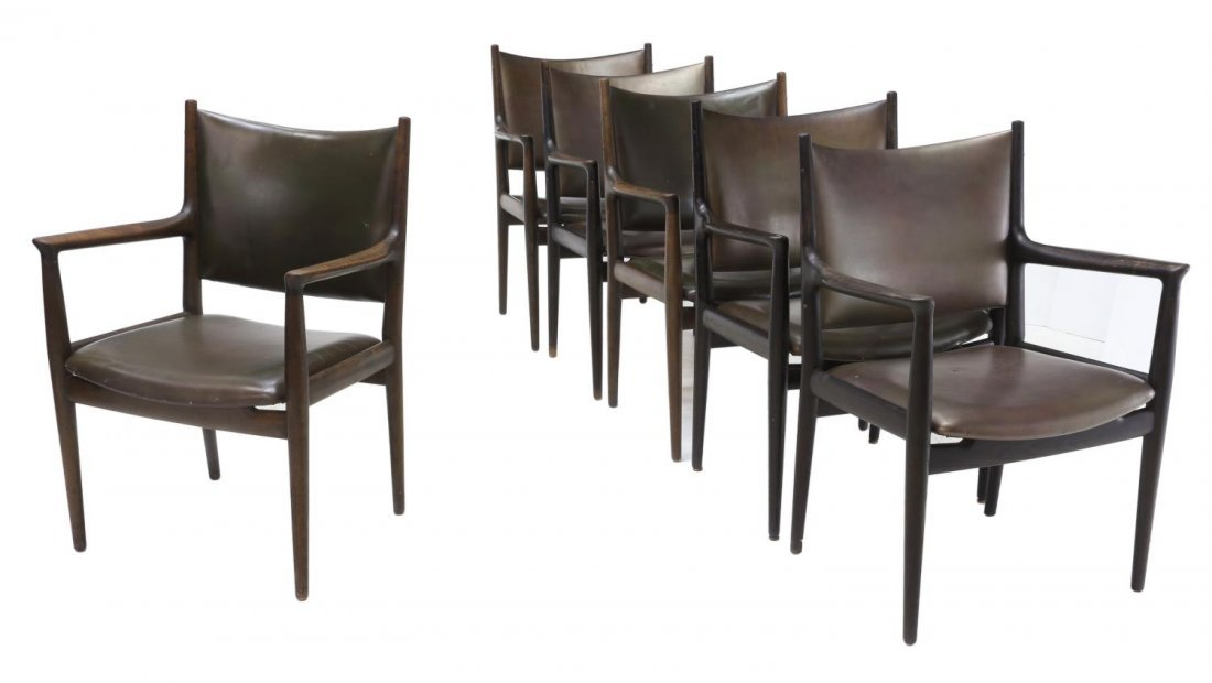 (6) HANS WEGNER JH-513 CONFERENCE ARM CHAIRS