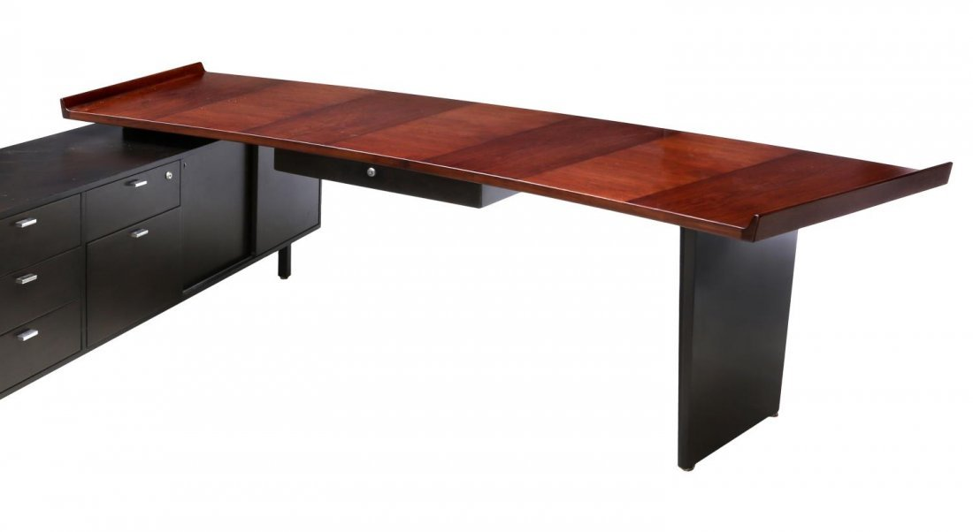 HARVEY PROBBER ROSEWOOD EXECUTIVE DESK & RETURN - 3