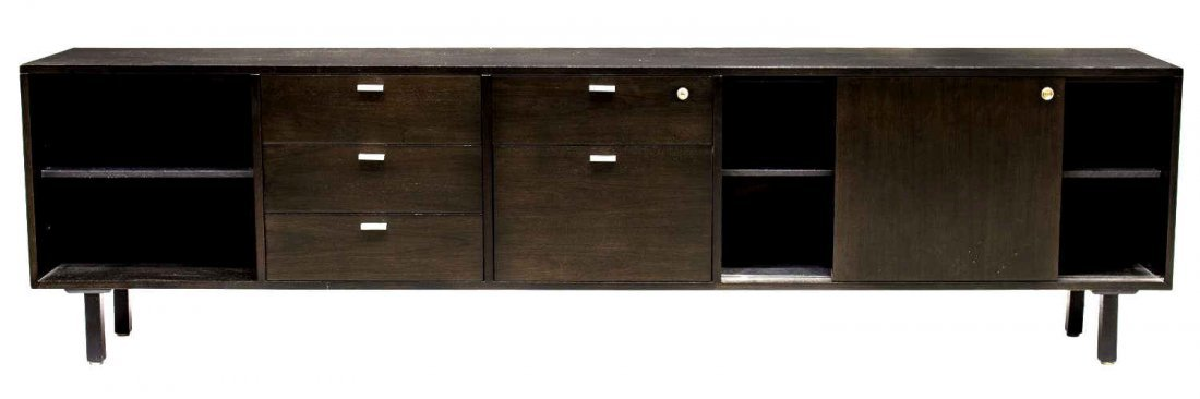 HARVEY PROBBER ROSEWOOD EXECUTIVE DESK & RETURN - 5