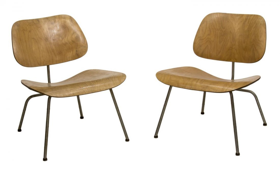 (2) LCM CHAIRS, CHARLES & RAY EAMES, HERMAN MILLER