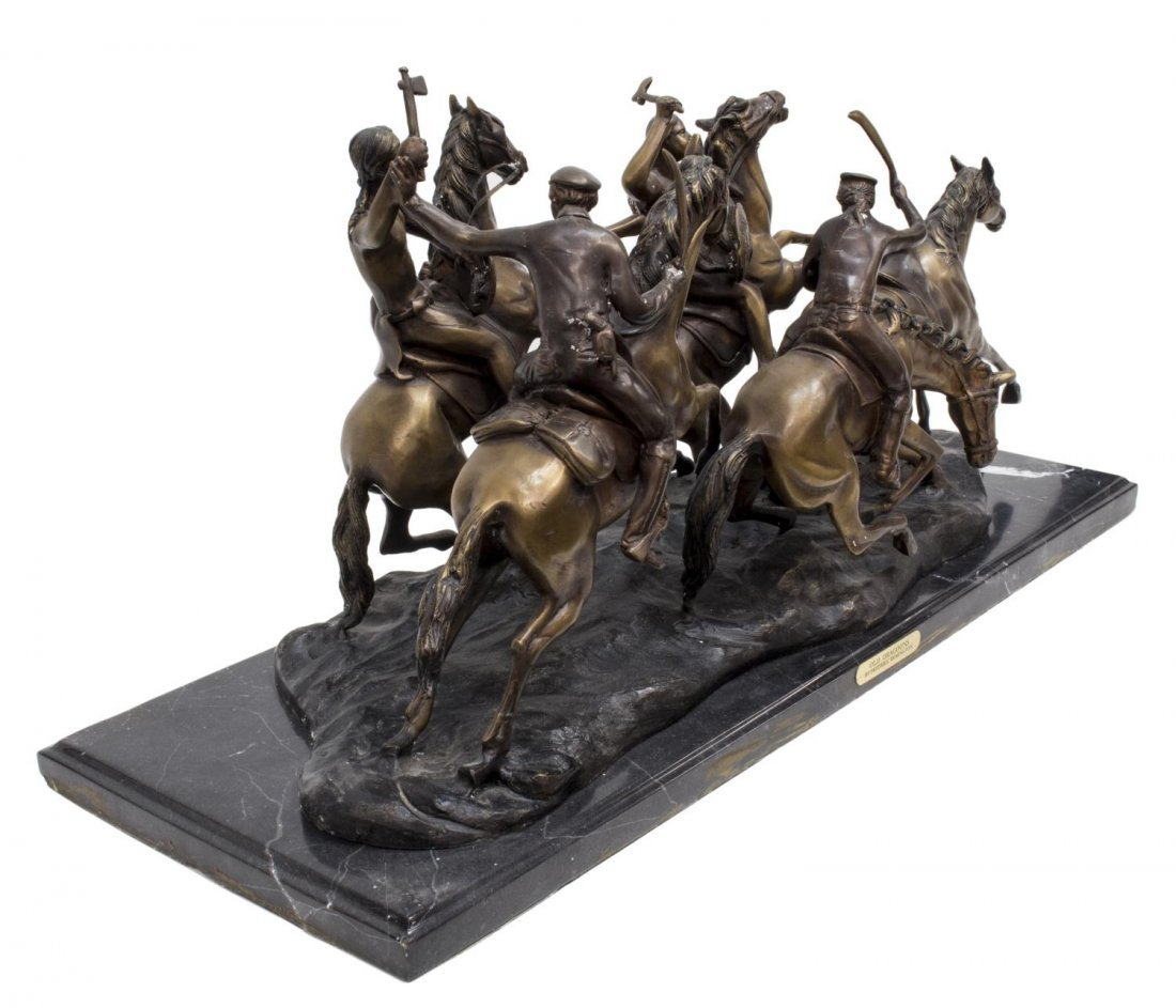 """""""OLD DRAGOONS"""" BRONZE AFTER FREDERIC REMINGTON - 3"""