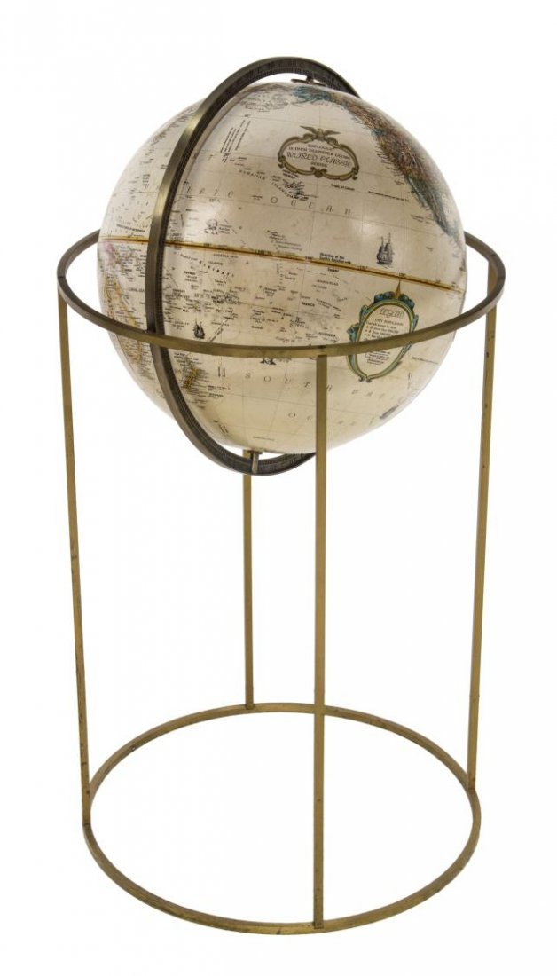 "REPLOGLE WORLD CLASSIC 16"" DIAM GLOBE ON STAND"