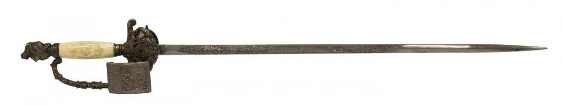 KNIGHTS OF PYTHIAS SWORD, C. 1900 - 3