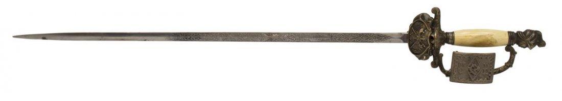 KNIGHTS OF PYTHIAS SWORD, C. 1900 - 4