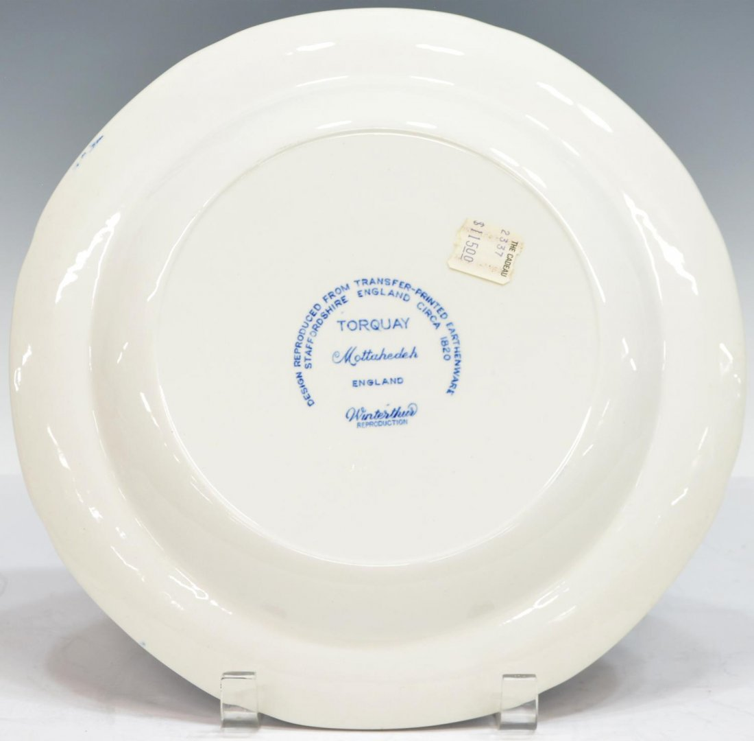 (3) MOTTAHEDEH TORQUAY BLUE & GOLD DINNER PLATES - 4
