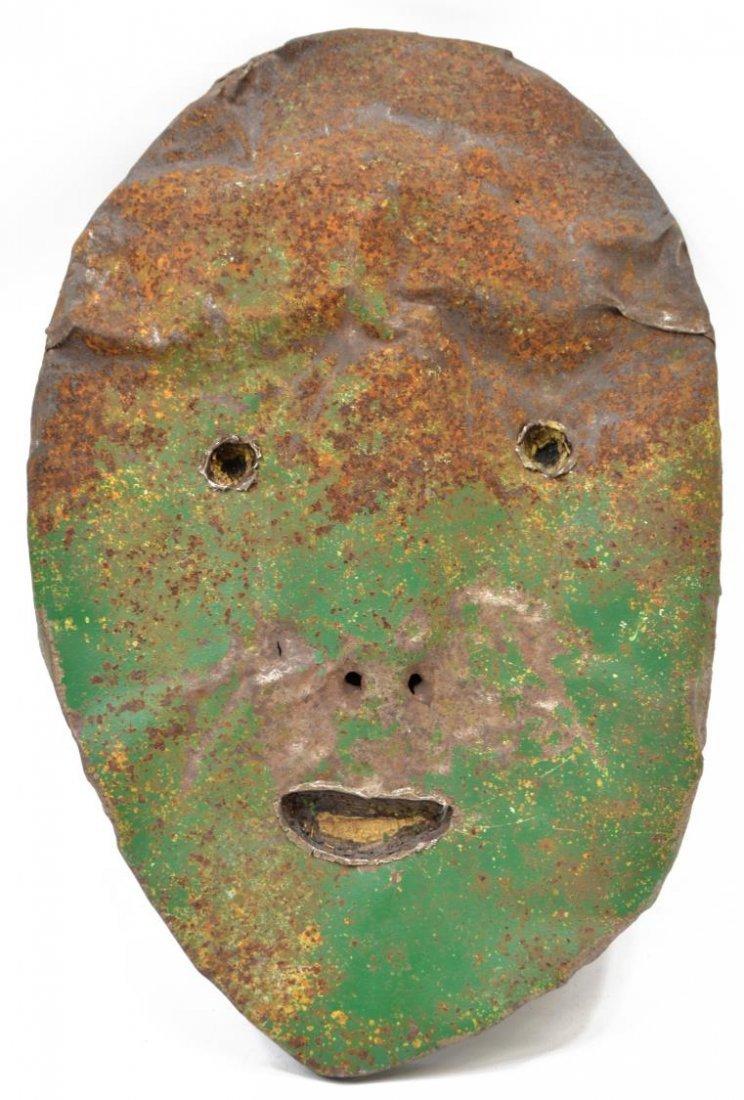 "JIM COTTER MIXED MEDIAL FACE ""PERKINS"" WALL ART"