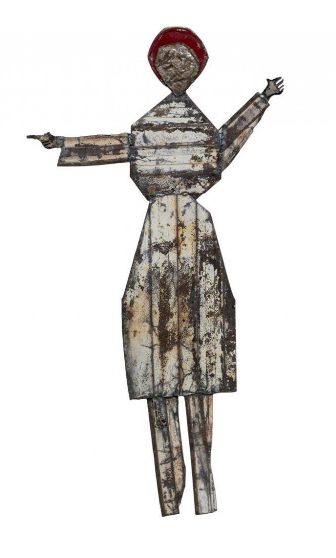 CLYDE ANGEL (1920-2006) OUTSIDER ART METAL FIGURE