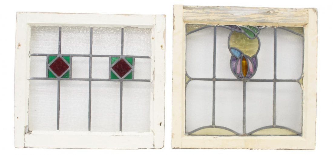 (6) ENGLISH LATE VICTORIAN STAINED GLASS WINDOWS - 3
