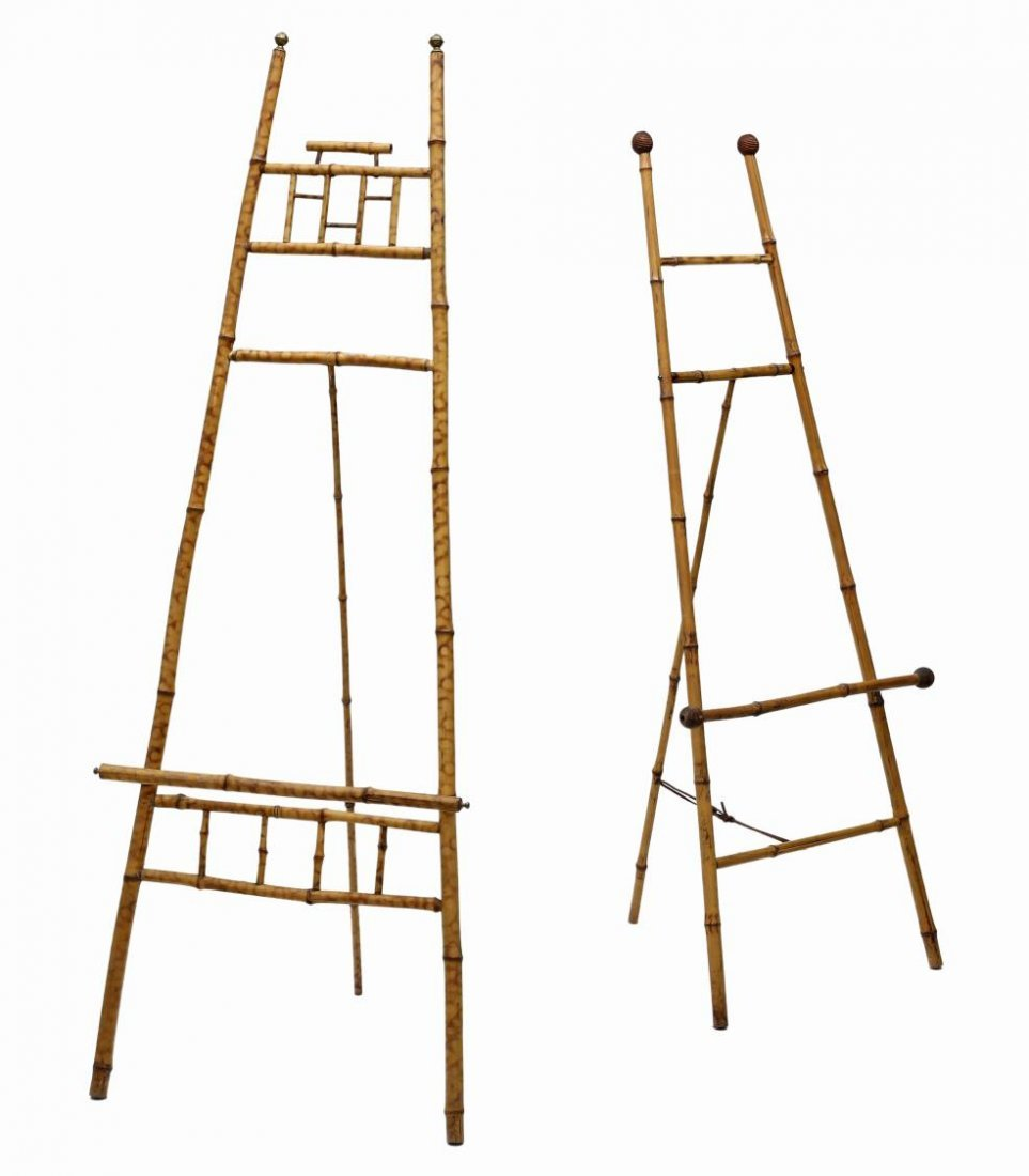 (2) VICTORIAN BAMBOO EASELS