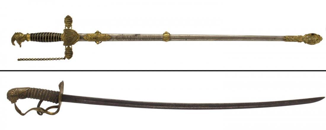 (2) FRATERNAL SWORDS, LILLEY & HORSTMAN