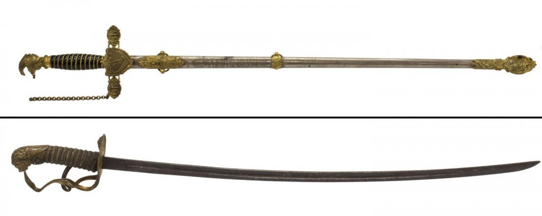 (2) FRATERNAL SWORDS, LILLEY & HORSTMAN