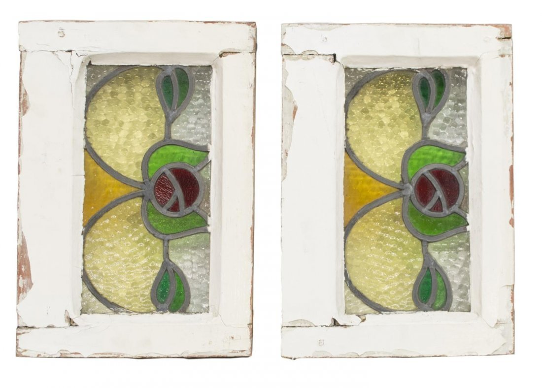 (4) ENGLISH LATE VICTORIAN STAINED GLASS WINDOWS - 2