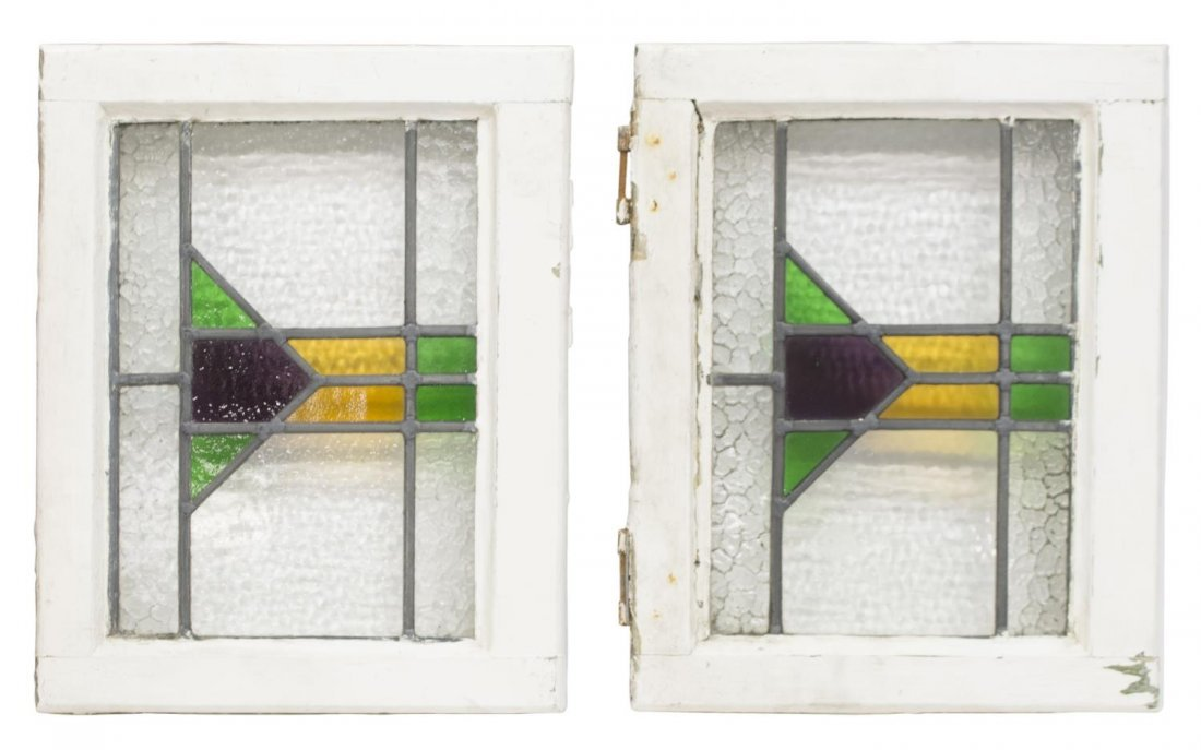 (4) ENGLISH LATE VICTORIAN STAINED GLASS WINDOWS - 3