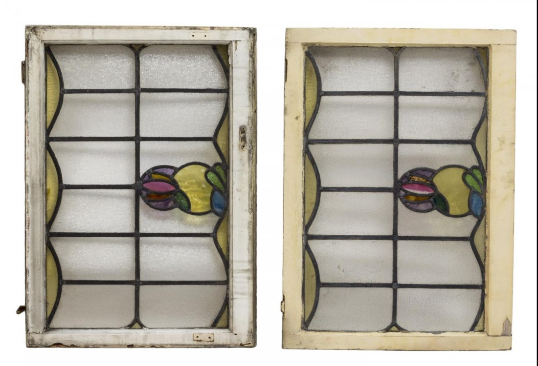 (6) ENGLISH LATE VICTORIAN STAINED GLASS WINDOWS - 4