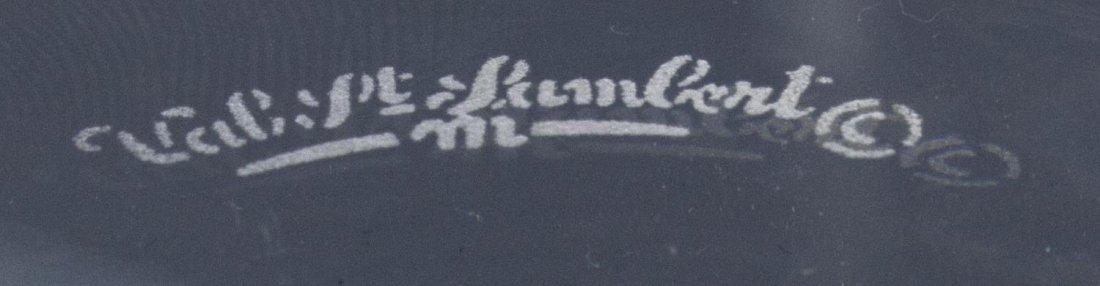 (6) VAL ST LAMBERT ART CRYSTAL CANDLESTICKS - 5