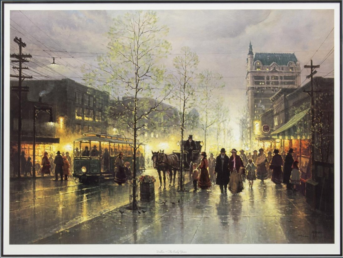 "G. HARVEY (TEXAS) ""DALLAS-THE EARLY YEARS"", PRINT"