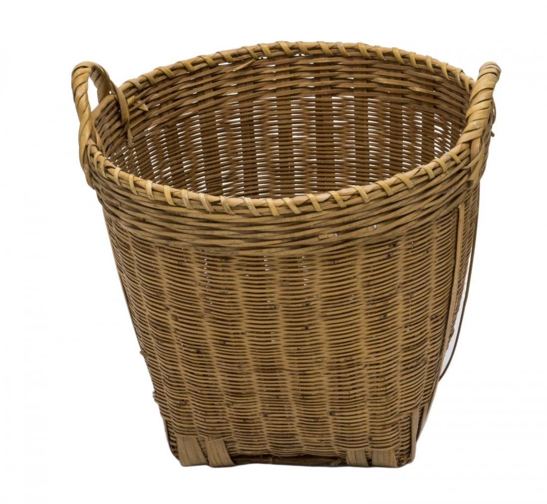 (5) VINTAGE & NEWER BENTWOOD & WOVEN REED BASKETS - 3