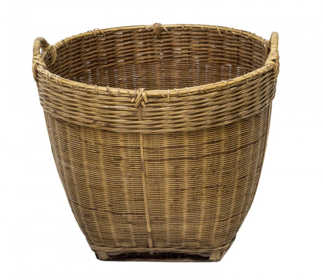 (5) VINTAGE & NEWER BENTWOOD & WOVEN REED BASKETS - 4