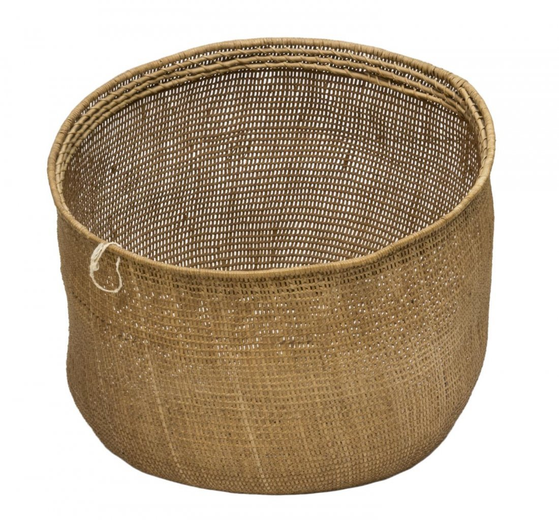 (5) VINTAGE & NEWER BENTWOOD & WOVEN REED BASKETS - 5