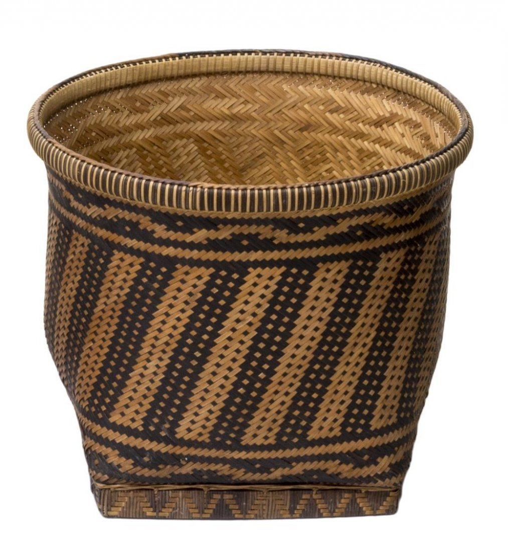(5) VINTAGE & NEWER BENTWOOD & WOVEN REED BASKETS - 6