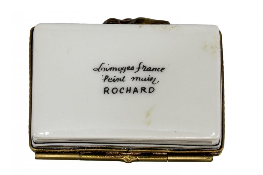 (12) ROCHARD LIMOGES & LEATHER MINIATURE BOXES - 6