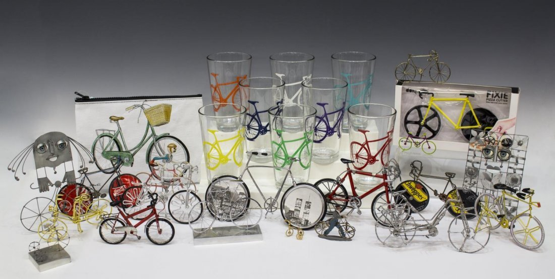 COLLECTION CYCLING & BICYCLE GLASSES & SCULPUTRE