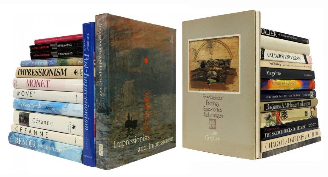 (LOT) DECORATIVE COFFEE TABLE ART BOOKS, 20TH C