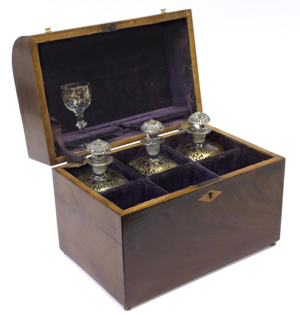 ENGLISH REGENCY PERIOD DRINKS TANTALUS BOX - 2